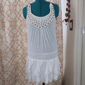 🌴BOHO tunic mini dress or beach cover up size L🌴